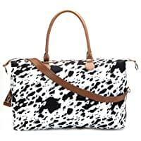 Brindle Cow Print Weekender Bag Duffle Bag Image