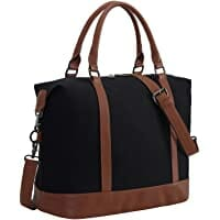 Women Canvas Weekender Bag Overnight Carry-on Tote Duffel Image