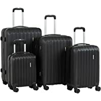 Murtisol ABS Hardside Luggage Sets With Spinner Dual Wheels,French Blue,4-Piece image