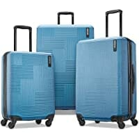American Tourister Stratum XLT Expandable Hardside Luggage with Spinner Wheels, Blue Spruce, 3-Piece Set image